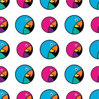 Motif perroquet