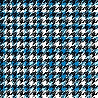 Motif pied de poule bleu