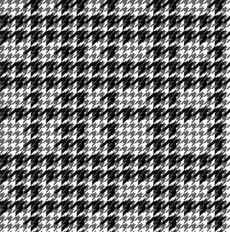 Motif pied de poule noir et blanc
