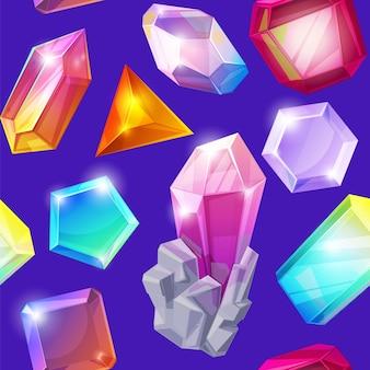 Motif de pierre de cristal