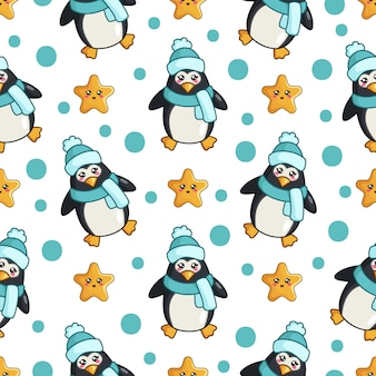 Motif pinguin