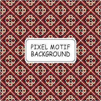 Motif de pixel décoratif sans soudure de fond