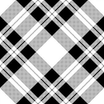 Motif de pixels noir et blanc sans couture