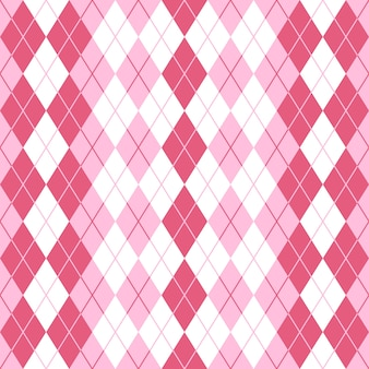 Motif de plaid rose sans couture argyle.