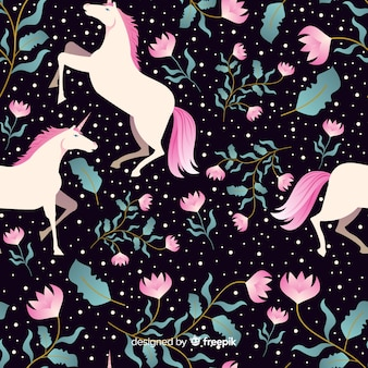 Motif plat de licorne