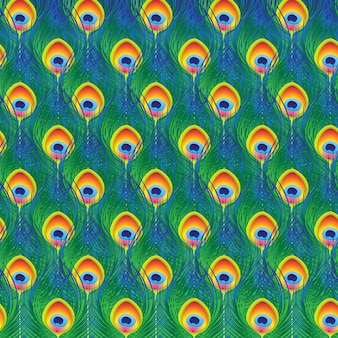 Motif de plumes de paon, fond de tissu