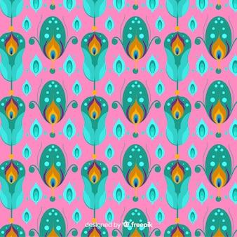 Motif de plumes de paon