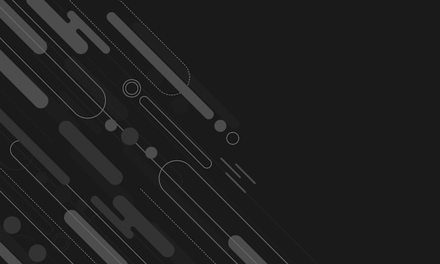 Motif de point géométrique de la ligne de bordure arrondie diagonale abstraite noire et grise