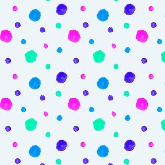 Motif pointillé peint à la main coloré avec aquarelle