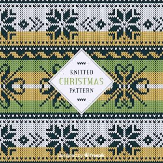 Motif de points de flocons de neige tricotés de noël