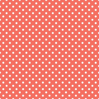 Motif à pois de couleur corail vivant. abstrait géométrique. couleur de l'année 2019. illustration de luxe et de style élégant