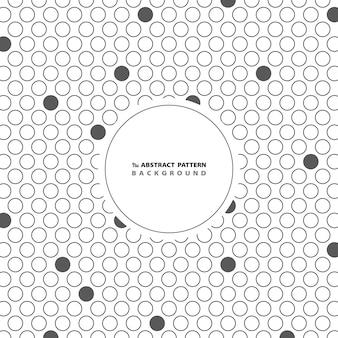Motif à pois gris cercle abstrait