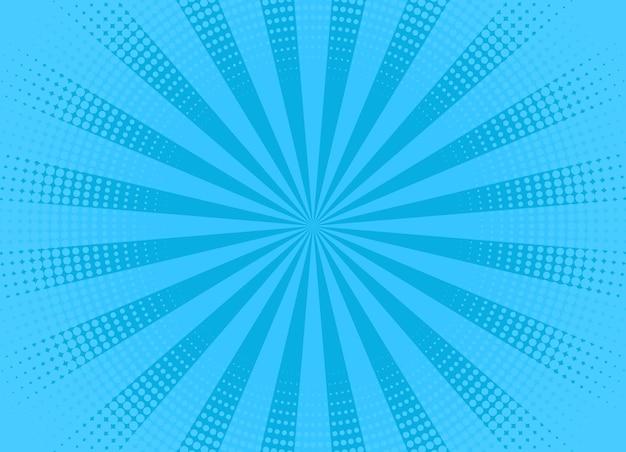 Motif pop art. fond de demi-teinte bleu comique. illustration vectorielle.