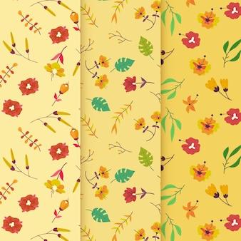 Motif de printemps dessiné à la main de fleurs venteuses