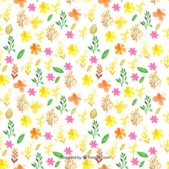 Motif de printemps peinte à la main
