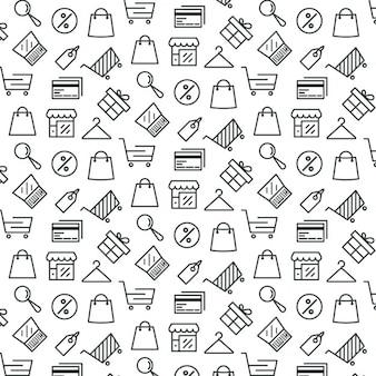 Motif à propos de shopping