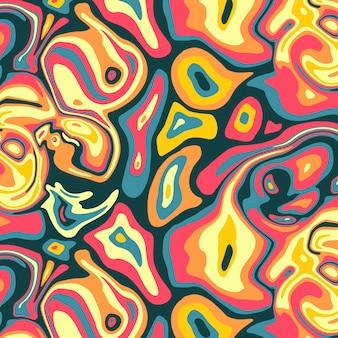 Motif psychédélique groovy coloré