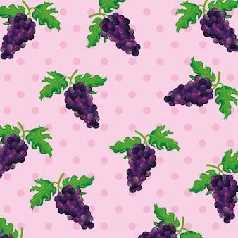 Motif de raisins