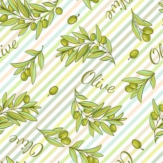 Motif rayé d'olive