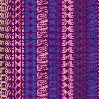 Motif rayé sans couture avec des motifs tribaux fond coloré batik