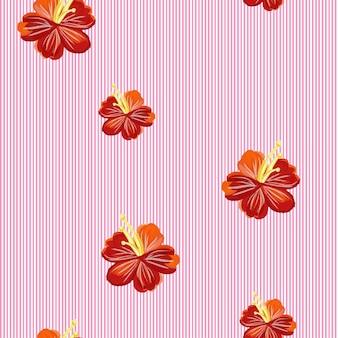 Motif de rayures et de fleurs