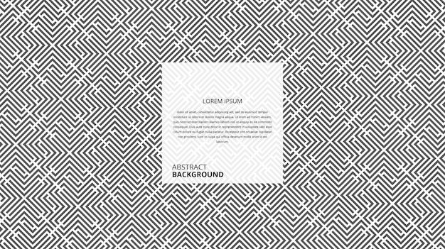 Motif de rayures de forme carrée diagonale abstraite décorative