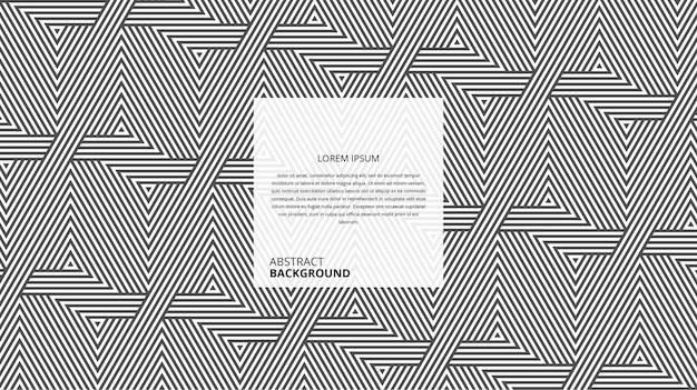 Motif de rayures géométriques abstraites en forme de triangle diagonal
