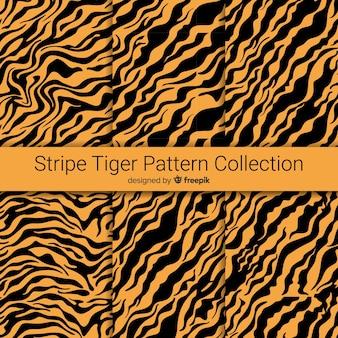 Motif de rayures de tigre