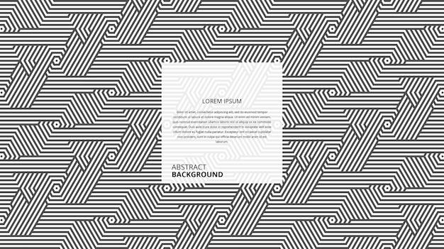 Motif de rayures tournées hexagonales décoratives abstraites