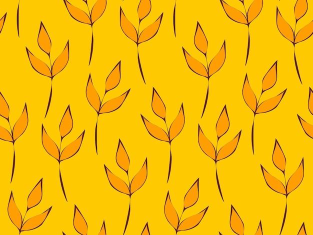 Motif répétitif sans couture de fleurs et de plantes. beau jardin décoratif de fleurs sauvages. feuilles botaniques et motif floral pour la conception. papier peint moderne minimaliste abstrait. fond de vecteur.