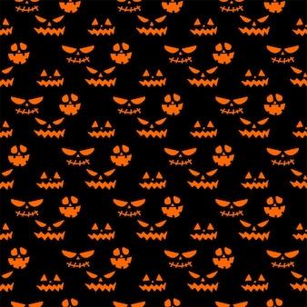 Motif répétitif sans couture avec des symboles d'halloween. conception de silhouettes pour la fête d'halloween. pour carte postale, tissu, bannière, modèle, papier d'emballage. plate illustration vectorielle.