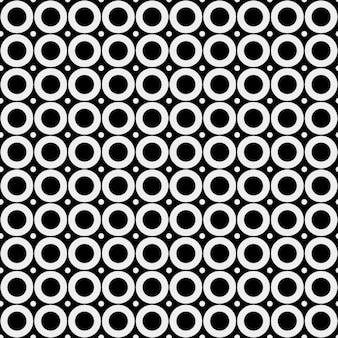 Motif rétro avec des cercles noirs et blancs