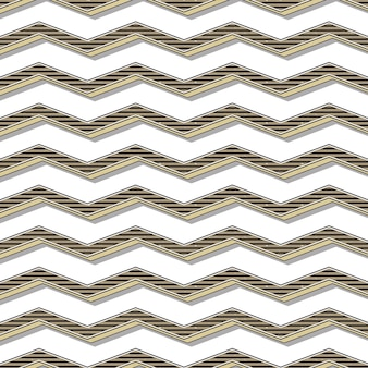Motif rétro en zigzag, arrière-plan géométrique abstrait dans le style des années 80 et 90. illustration simple géométrique