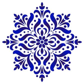 Motif rond floral
