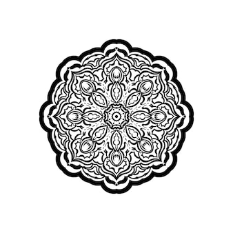Motif rond ornemental avec des éléments floraux pour un livre de coloriage moderne et intelligent pour adulte, conception de chemise ou tatouage. fond de doodle zen dessiné à la main