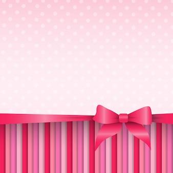 Motif rose abstrait de la saint-valentin carte-cadeau de vacances