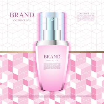 Motif rose pour la publicité des cosmétiques