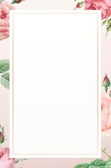 Motif rose rose sur fond blanc