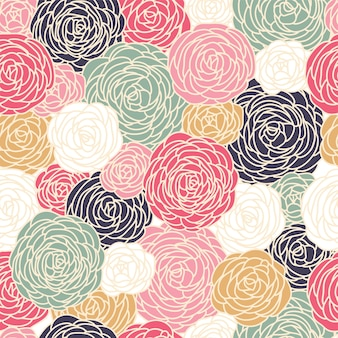 Motif rose transparente