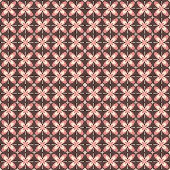Motif sans couture de batik indonésien avec divers motifs culture traditionnelle javanaise, batik kawung en coloris rose brun, peut être appliqué à tout le tissu