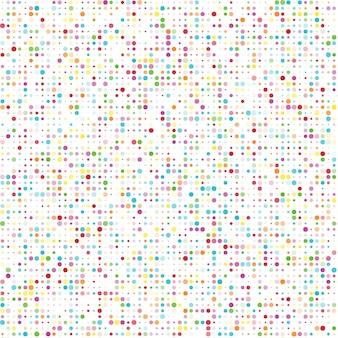 Motif sans couture avec des cercles de couleurs