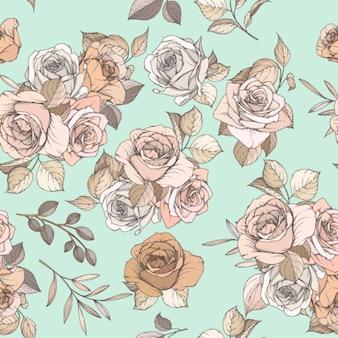 Motif sans couture floral et feuilles
