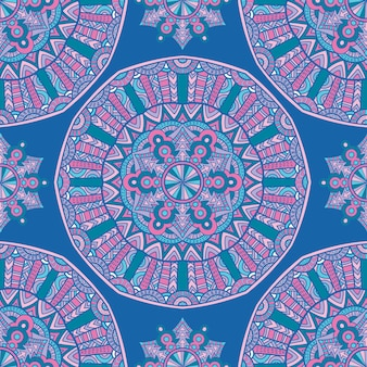 Motif sans couture mandala vectoriel pour l'impression. ornement tribal.