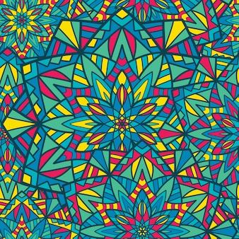 Motif sans couture mandala vectoriel pour l'impression. ornement tribal.