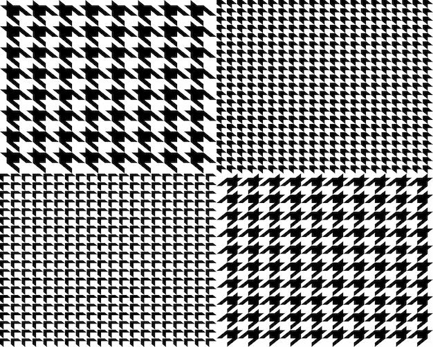 Motif sans couture pied-de-poule en tissu