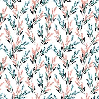 Motif sans soudure de belles fleurs de prairie dans la conception de style moderne à petite échelle pour la mode, les tissus, les impressions, le papier peint et toutes les impressions
