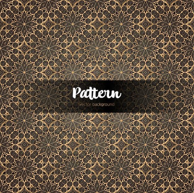 Motif sans soudure décoratif islamique doré.