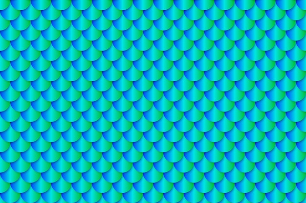 Motif sans soudure d'effet texture sirène queue feuille
