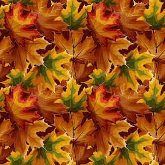 Motif sans soudure de feuilles d'érable automne