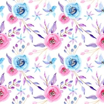 Motif sans soudure floral aquarelle pastel
